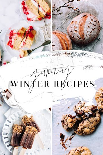 Easy Winter Recipes - Pinterest Pin template