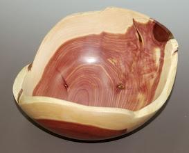 "Photo: Richard Webster - natural edge cedar bowl - 10.5"" x 6"""