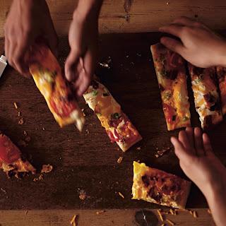 Cheesy Morning Pizza.