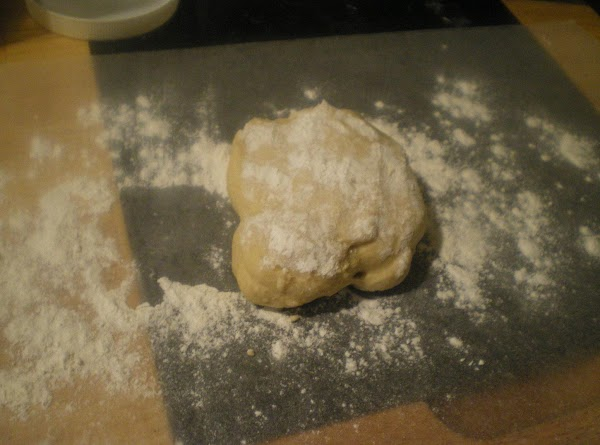 In your mixer with a dough hook, combine flour and salt. Add the slightly...