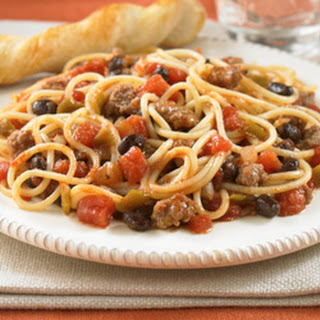 Fiesta Spaghetti with Meat