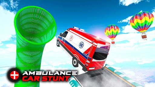 Ambulance Car Stunts: Mega Ramp Stunt Car Games 1.1 screenshots 9