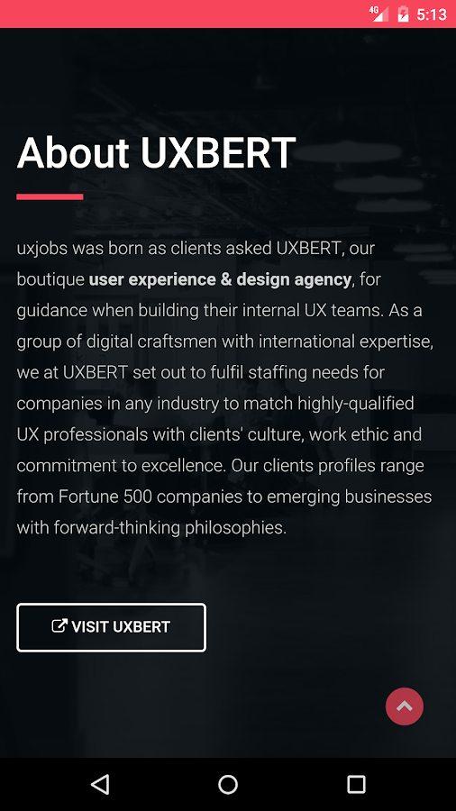 UX Jobs- screenshot