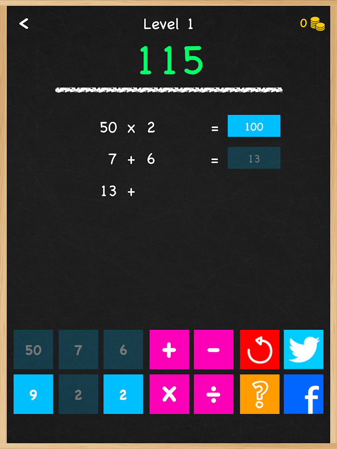 Numbers Game Math Brain Puzzle- screenshot