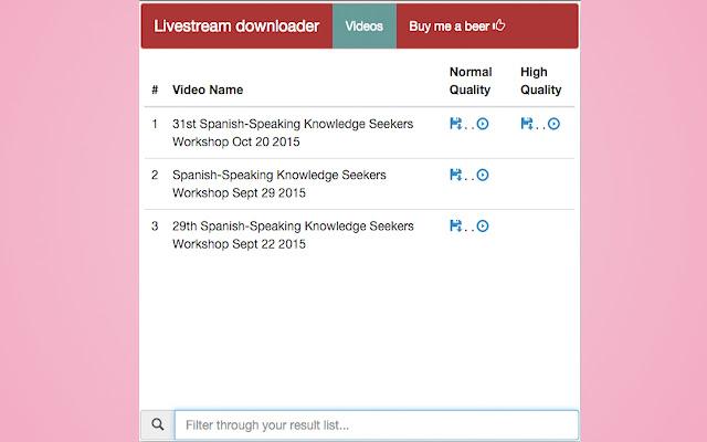 Livestream downloader chrome extension