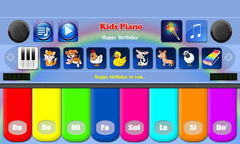 kids piano free apps on google play. Black Bedroom Furniture Sets. Home Design Ideas