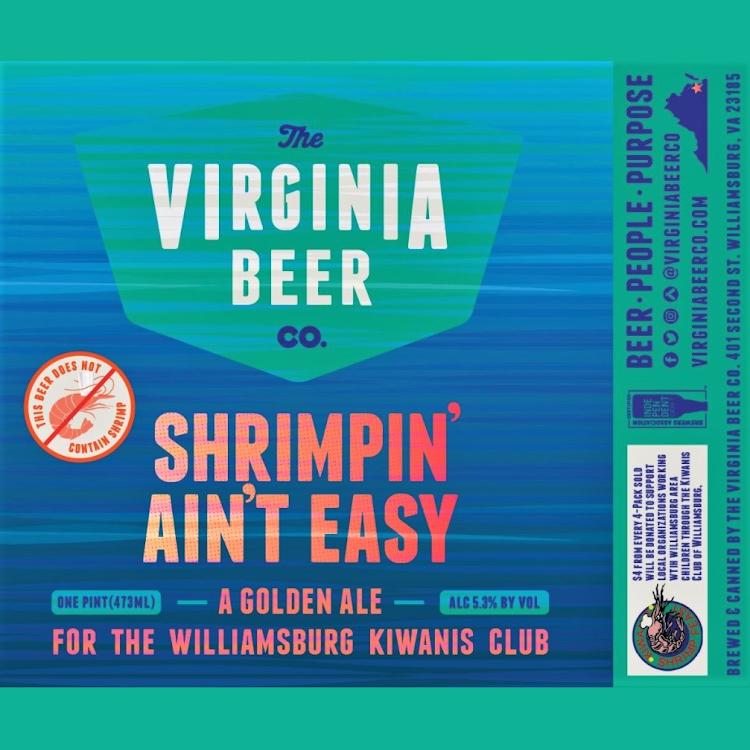 Logo of Virginia Beer Co. Shrimpin' Ain't Easy