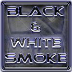 Next Launcher Theme BnW Smoke Icon