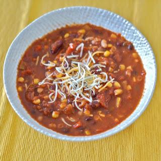 Three-Bean Vegetarian Chili.