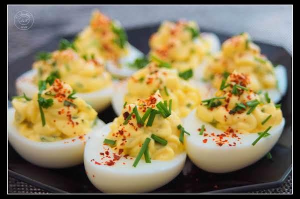 Parmesan Chive Deviled Eggs Recipe