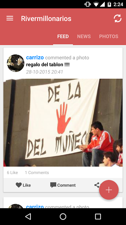 Rivermillonarios River P. Fans- screenshot