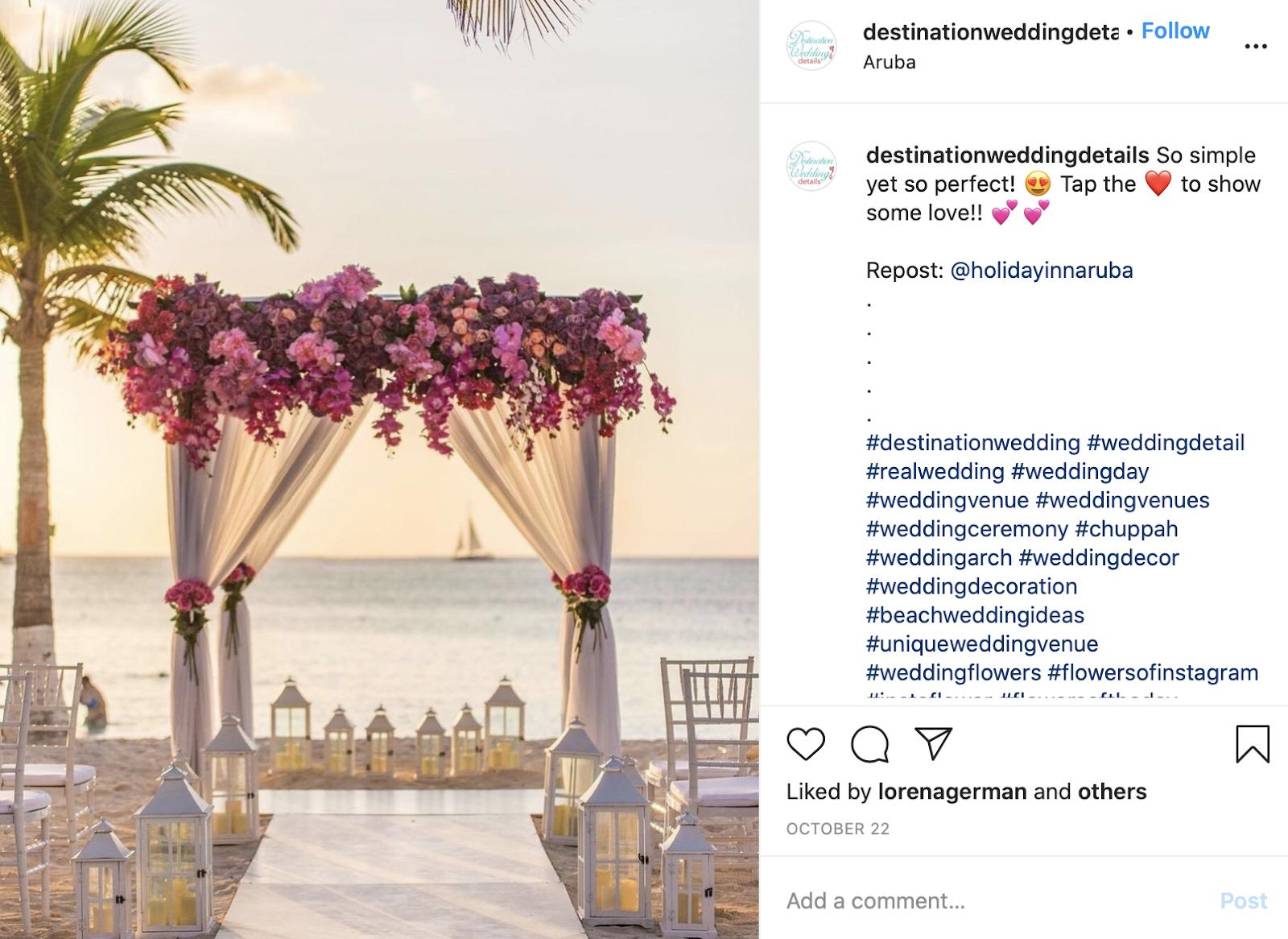 wedding structure on a beach