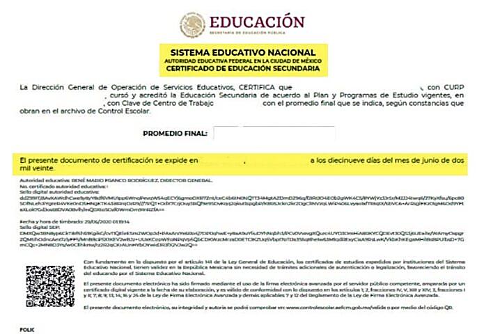 Sacar certificado de secundaria