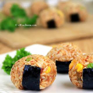 Kimchi Jumuk Bap (Kimchi Rice Balls).