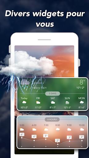 Prévisions météo & Widgets & Radar screenshot 7