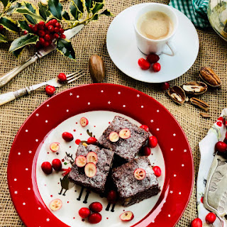 Quick, Delicious Nuts And Dark Cacao Brownies.