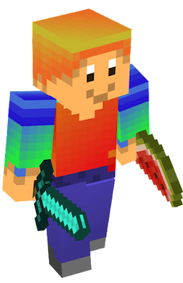 its steve but colorful.