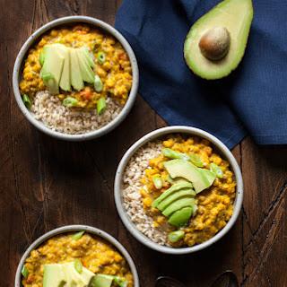Yellow Split Pea Coconut Breakfast Porridge.