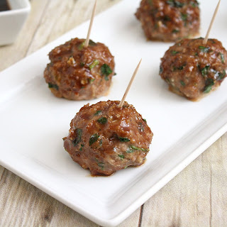 Baked Teriyaki Turkey Meatballs.