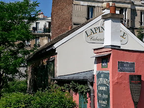 Photo: The oldest bar/cabaret in Paris (founded in 1860), Au Lapin Agile was, and remains, a haunt of 'unknown' artists. Picasso, Utrillo and Modigliani (among many others) were patrons at one time. Picasso painted Au Lapin Agile and gave the painting to the bar owners who later sold it, in 1920, for US$20. It was auctioned at Sotheby's, in 1989, for US$42 million!!!