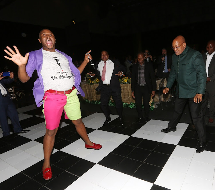 President Jacob Zuma and Dr Malinga on the dance floor at the ANC gala dinner to celebrate their 103rd birthday at Cape Town Convention Centre.