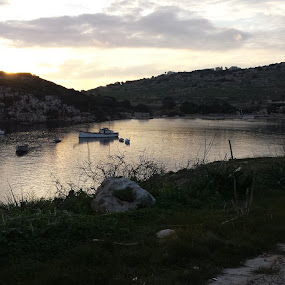 MISTRA BAY MALTA by Amadeo Axiak - Landscapes Sunsets & Sunrises