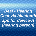 Deaf - Hearing chat device H icon