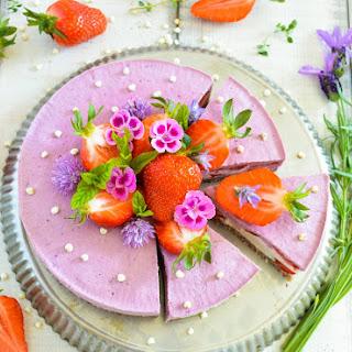 Strawberry And Vanilla Cheesecake.