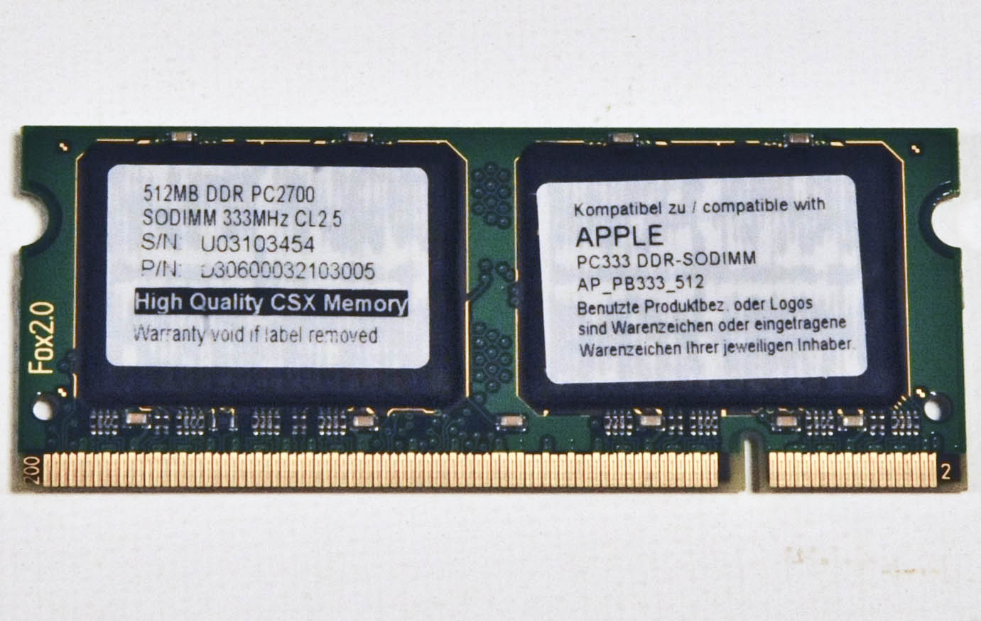 500mb Apple RAM