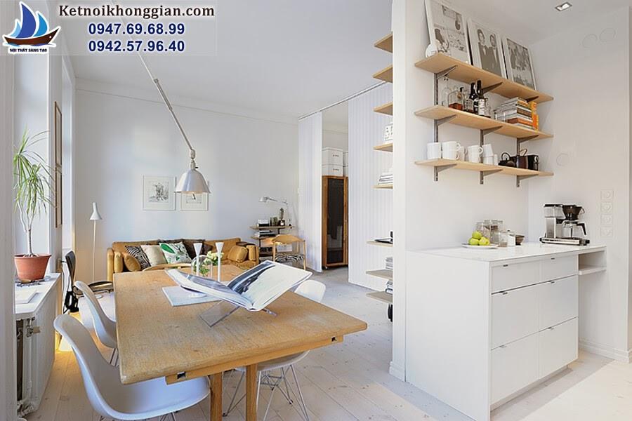 thiết kế căn hộ nhỏ tính tế