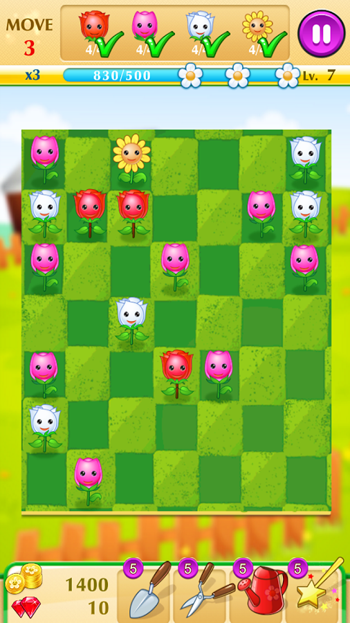 Blossom Bloom - Floral Match 4- screenshot