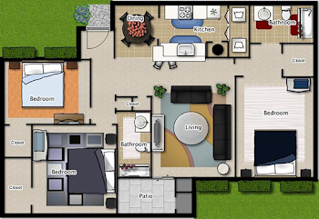 Go to Three Bedroom A Floorplan page.