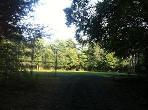 Photo: Path leading up to Alumni Field.