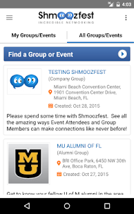Shmoozfest - Event Networking- screenshot thumbnail