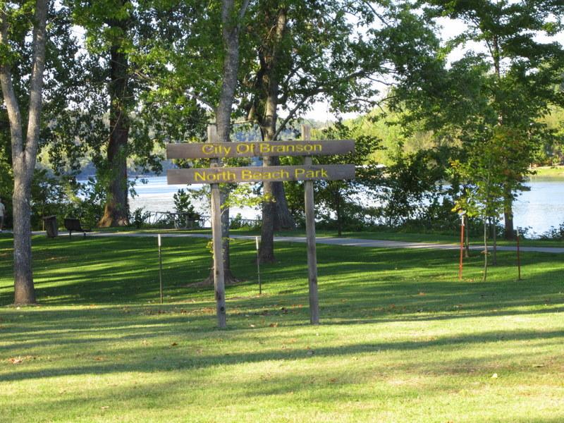 Photo: Park along Lake Taneycomo