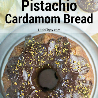 Pistachio Cardamom Amish Friendship Bread with Chocolate Ganache