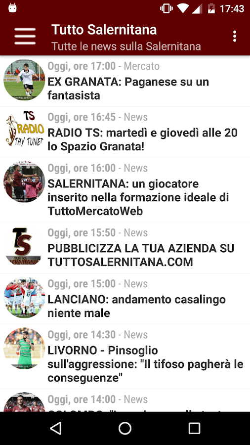 Tutto Salernitana- screenshot