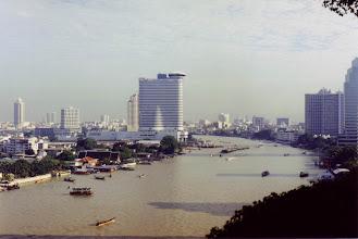 Photo: #001-Vue de notre chambre-Le Shangri-La de Bangkok