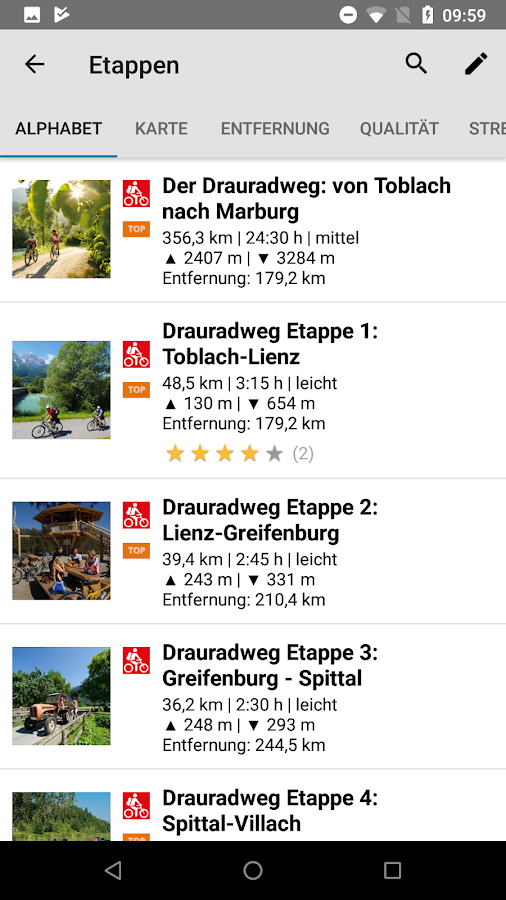 Drauradweg- screenshot