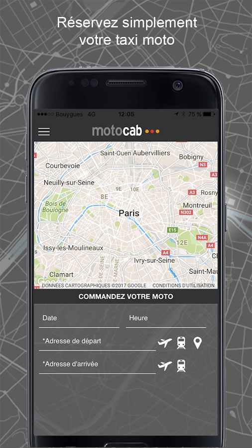 Motocab taxi moto- screenshot