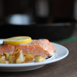 Lemon-Baked Salmon with Roasted Potatoes