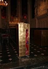 Photo: Ambon feuille d'or et fusing - Eglise de Watten