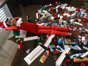Photo: December 2 - dumping out the holiday bake shop Lego set