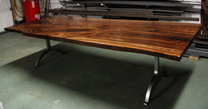 Photo: http://dorsetcustomfurniture.blogspot.com/search/label/claro%20walnut%20slab%20tables?updated-max=2012-05-28T19:31:00-07:00&max-results=20&start=20&by-date=false