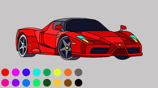 Super Car Colouring Games - Cars Coloring Book - Apps on ...
