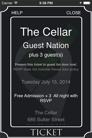 Guest List Nation for Android- screenshot
