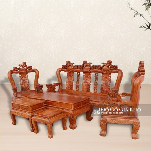 Bàn ghế gỗ Hương Đá tay 12 đẹp - giá rẻ