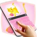 Pink Cat Theme Keyboard icon