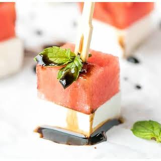 Watermelon And Feta Appetizer Bites.