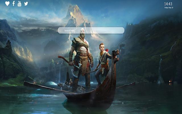 God of War Wallpaper New Tab Background